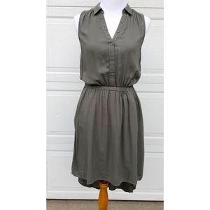 Beautiful olive green high low summer dress 💚🌿